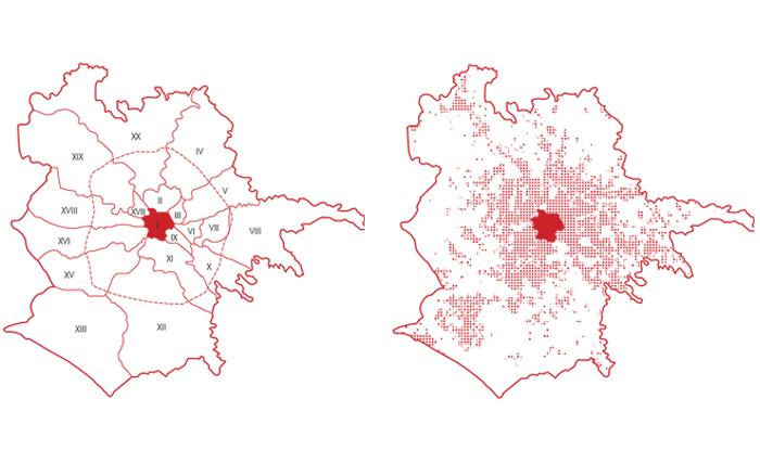 Rome Metropolitan Area Administrative Boundaries, Urbanized Areas