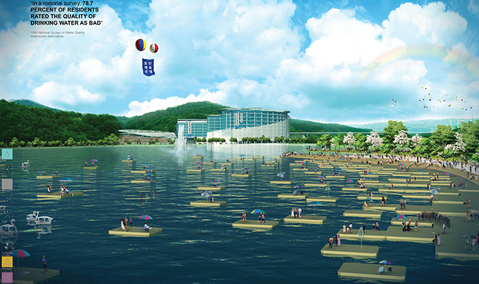Conceptual rendering of the San Cheok reservoir