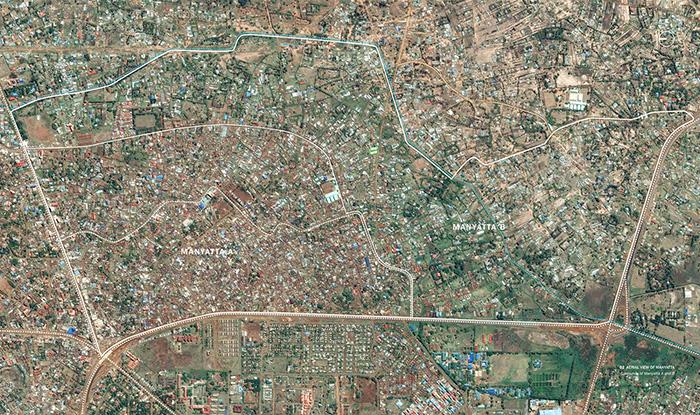Aerial view of Manyatta